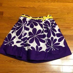 Mini Biden Purple Floral Skirt